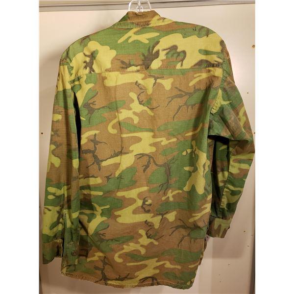 Saigon US marine corps poplin jacket, stenciled marine corps camo
