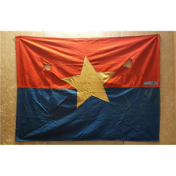 Saigon era north Vietnamese, captured communist flag (Vietcong)