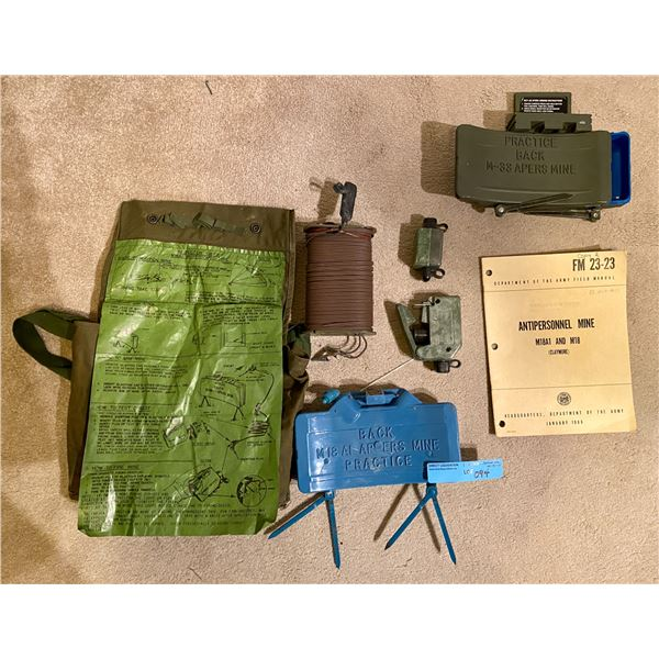 Saigon 1966 Complete CLAYMORE mine inner training kit- RARE AND COMPLETE