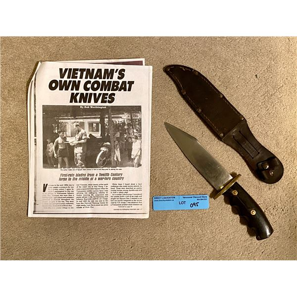 Saigon in country handmade out of railway steel - Handmade Bowie knife