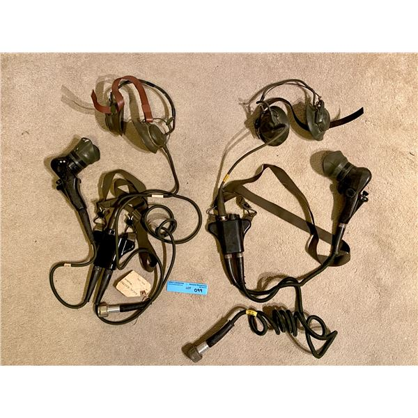 Post WWll Armoured tankers communication headsets - Centurion?