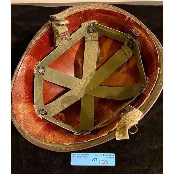 Post WWll Post War M1 Steel pot helmet + liner