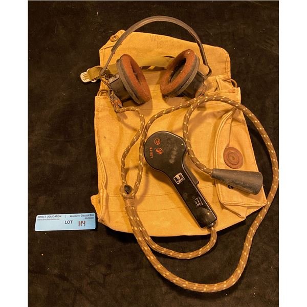 WWll Armoured headphone set in P37 gas mask bag