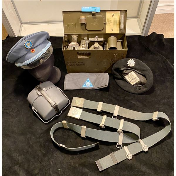 Cold War Cold War Era West German 1978- Complete Signals kit with signal light, peak cap, side cap