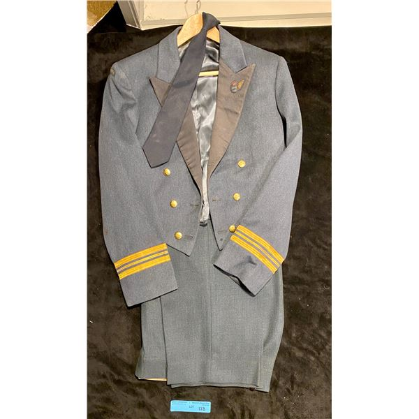 WWII Officers Dress Mess Uniform Canadian Wireless Air gunner - Jacket pants and tie