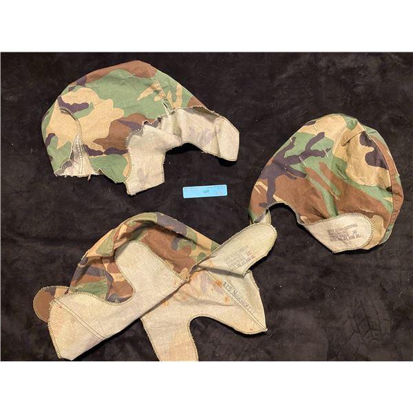 3 Post Saigon Camouflage helmet covers