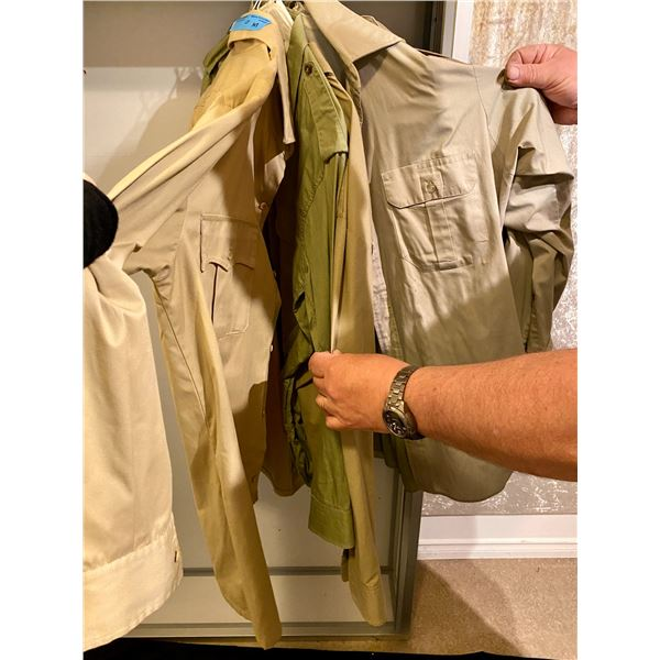 Post War 5 Miscellaneous military shirts- Large sizes
