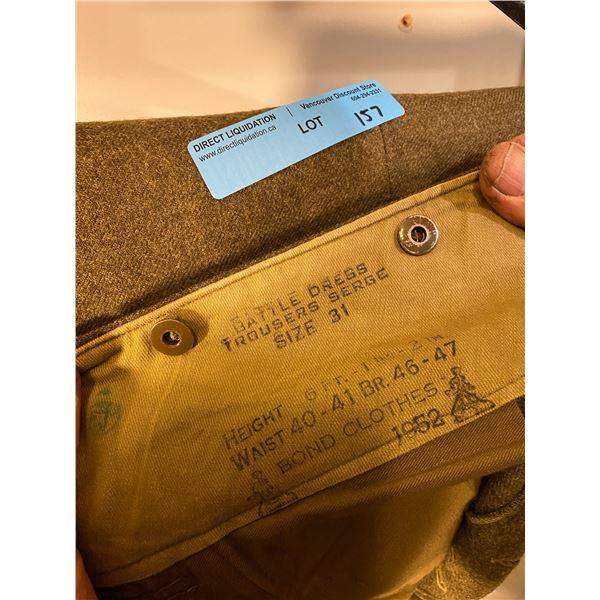 Post War  Post War Canadian Battle Dress pants 1952 (Size 31) Excellent condition