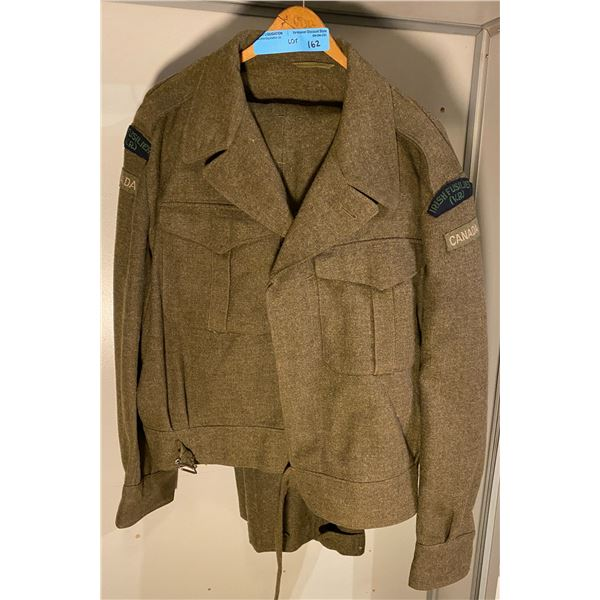Post War  Post War battle dress jacket (Size large) RARE vancouver regiment of the irish fusiliers-