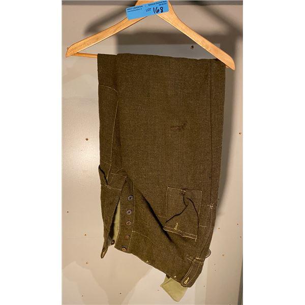 WWll WWll Canadian battle dress pants- Unusual Material