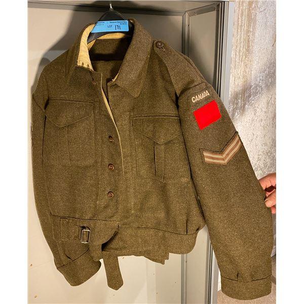 WWll WWll Canadian battle dress- Matching Pants & Jacket 1941 (Size 10)