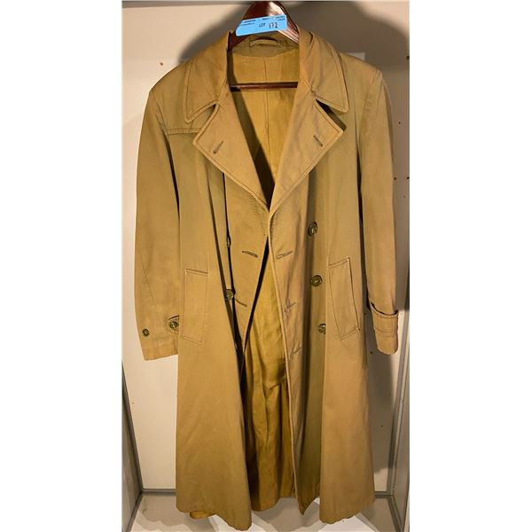 WWll Khaki Officers greatcoat- tailor made