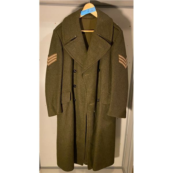 WWll Canadian WWll 1940 greatcoat - (Size 6)EXCELLECT CONDITION