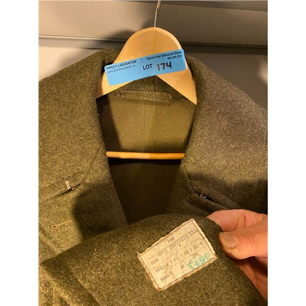 Post War  Post War greatcoat 1952 (Size 12) Excellent Condition