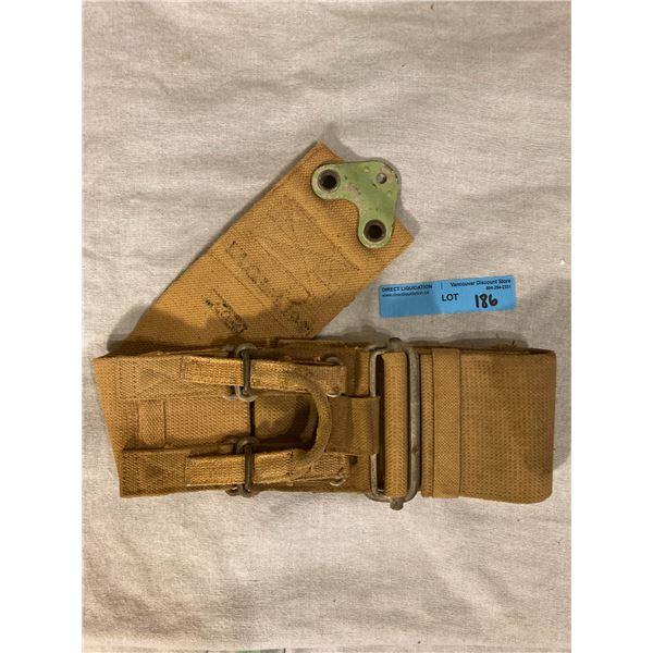 WWll WWll 1944 Dated Military plane lap belt