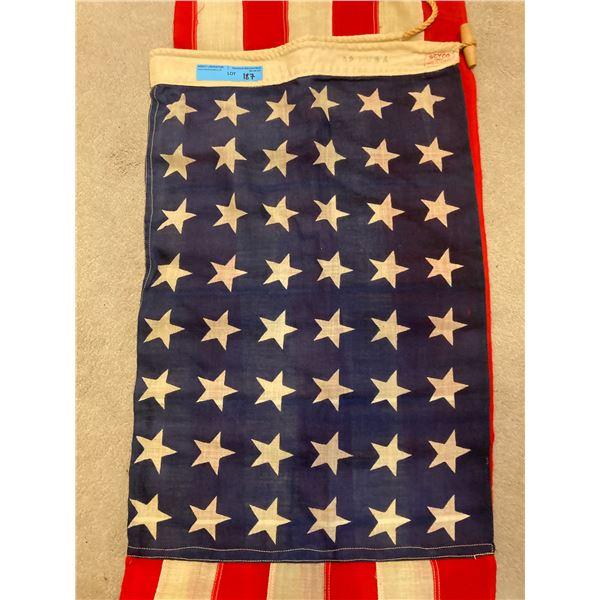 WWll  WWll 48 Star Cloth American Flag