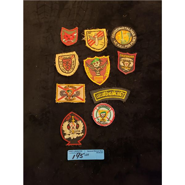 Saigon 10 Saigon era special forces patches in country