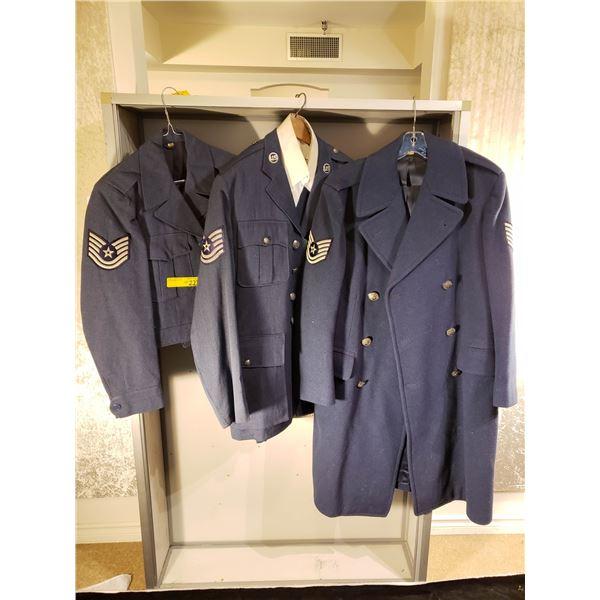 Korea US air force complete jacket pants & shirt ike jacket plus overcoat complete uniform
