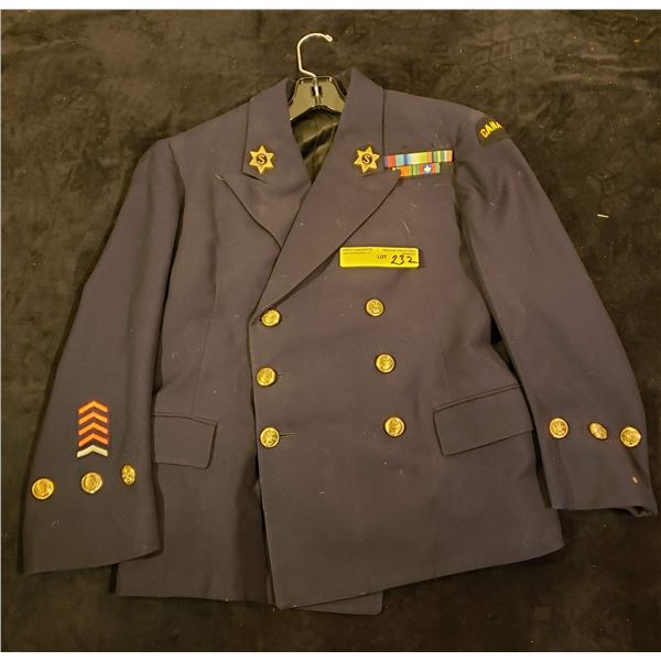 WWII Canadian WWII veterans salvation army jacket w/ ribbon bar