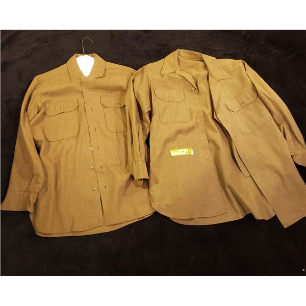 WWII 2 WWII Canadian wool combat shirts