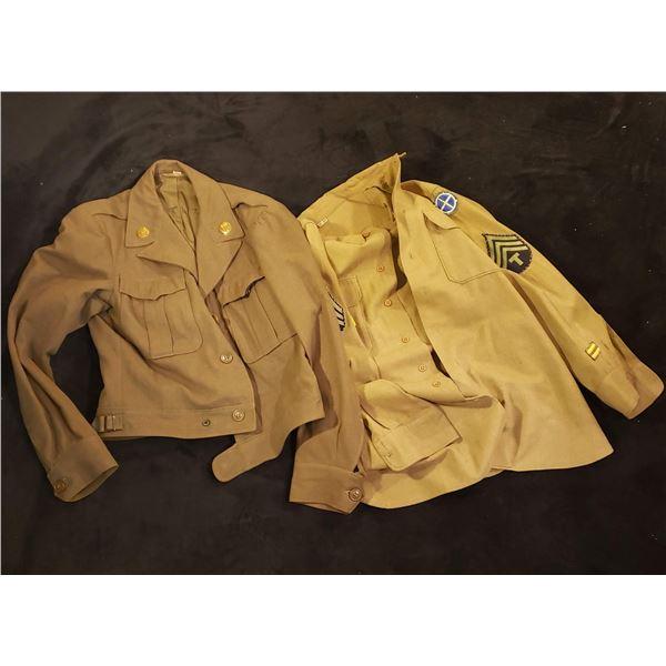WWII 1944 dated American IKE jacket w/shirt