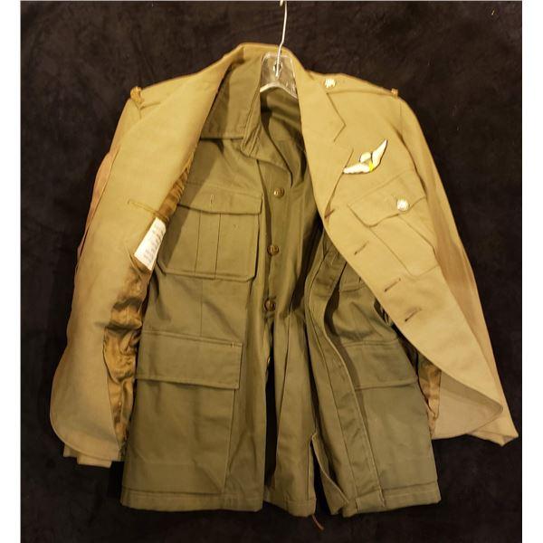 Korean 2 Korean combat jackets named to Canadian Don Par Pearson veteran 1950's era