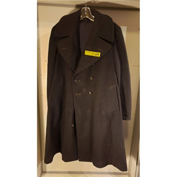 WWII  Canadian WWII overcoat named