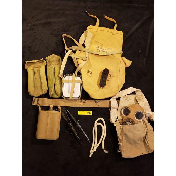 WWII webbing - WWII Webbing & kit, Aftermarket dagger included