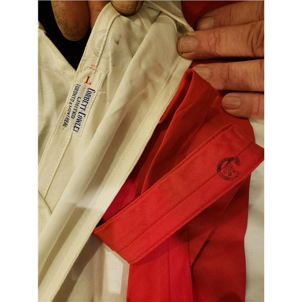 Canadian WWll - Military Surgeons gown, Canadian WWII & Red Military Tie for wounded Soldiers