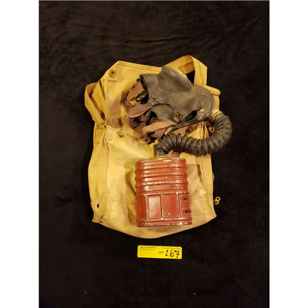WWII - Canadian WWII Gas mask Canadian Marked