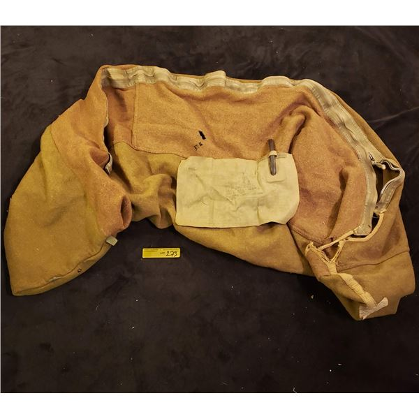 WWII American - WWII American Cold Weather Sleeping bag liner dated 1944, Inflatable pillow?