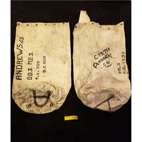 WWII Canadian Navy  WWII Canadian Navy Duffle Bag