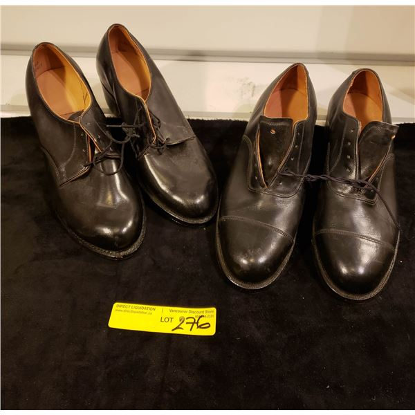 Modern Canadian  Two pairs Canadian Military Woman shoes & Size 7'D &10