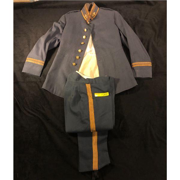 1950s 60s NCAF flight lieutenant mess dress jacket and pants