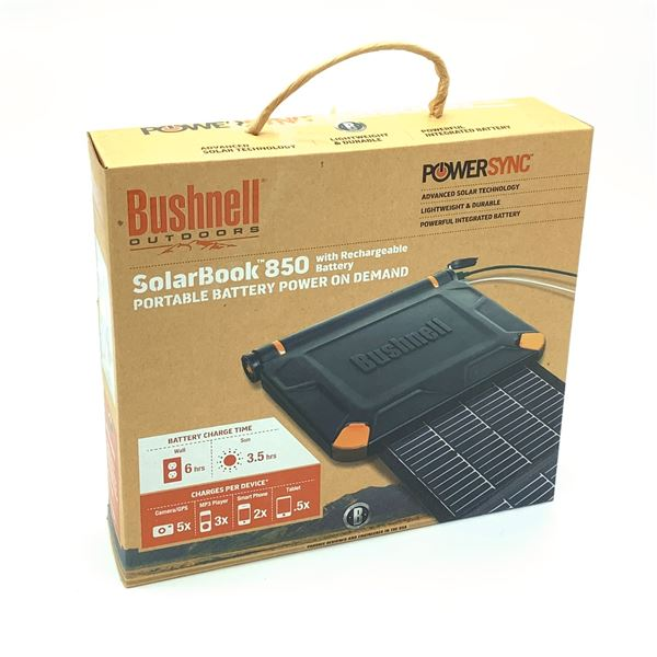 Bushnell Solar Book 850, Portable Solar Battery, New