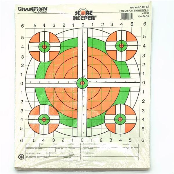 Champion 100 Yard Sight-in Targets 100 pk, New