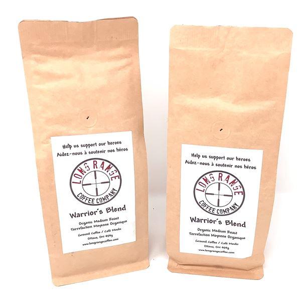 2 Long Range Coffee Company, Warrior's Blend Organic Medium Roast, New