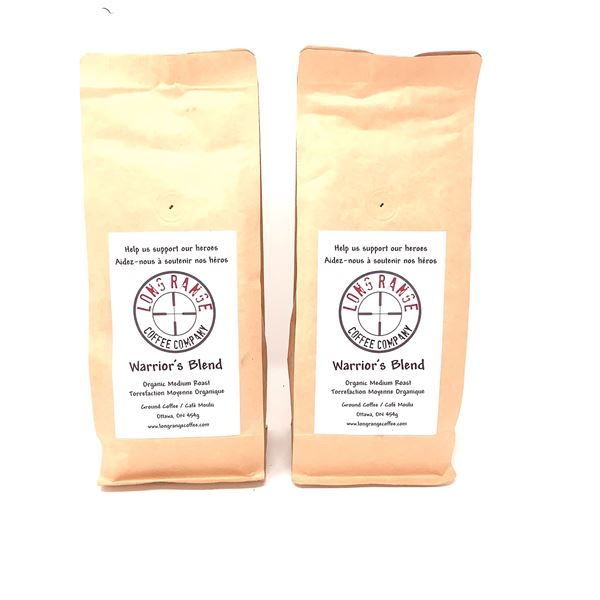 2 Long Range Coffee Company Warrior's Blend Organic Medium Roast, New