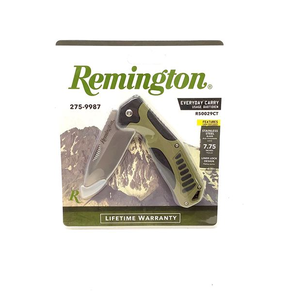 Remington Everyday Carry Folding Stainless Steel Knife, New