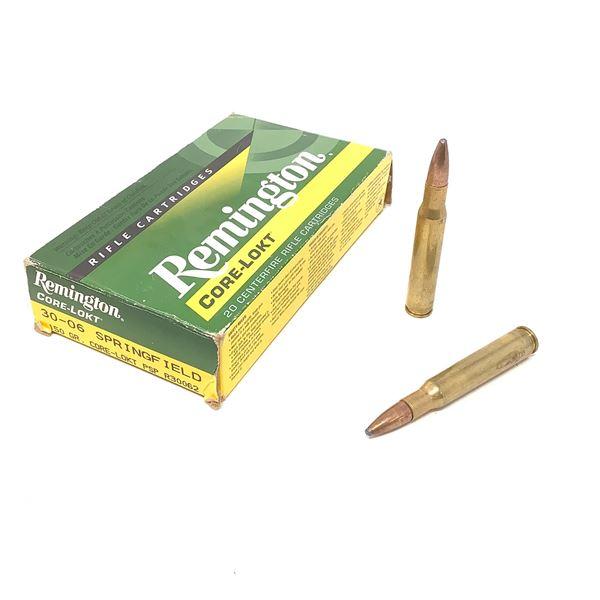 Remington Core-Lokt 30-06 Sprg Ammunition, 20 Rnds