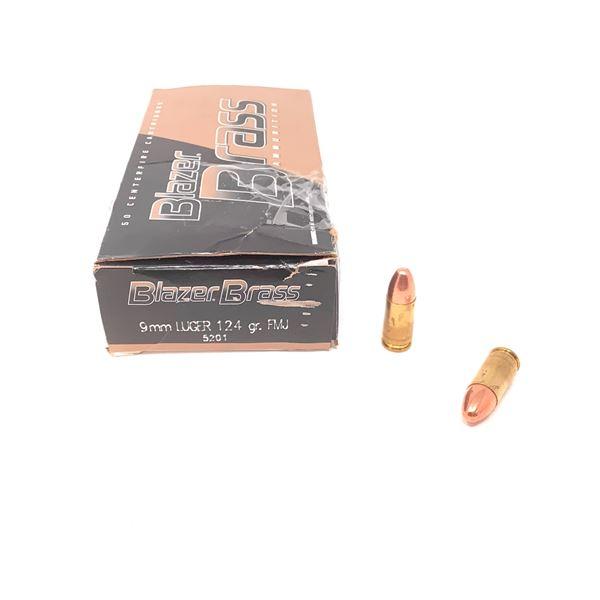 Blazer 9mm Luger Ammunition, 50 Rnds