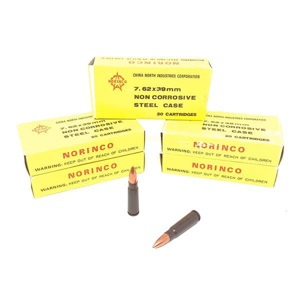 Norinco 7.62 x 39mm Ammunition, 100 Rnds