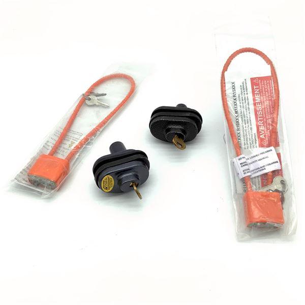 4 Assorted Keyed Locks