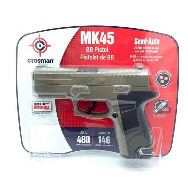 Crosman MK45 Semi-Auto BB Pistol in Tan, New