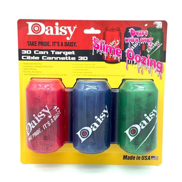 Daisy 3D Slime Oozing Can Targets, New