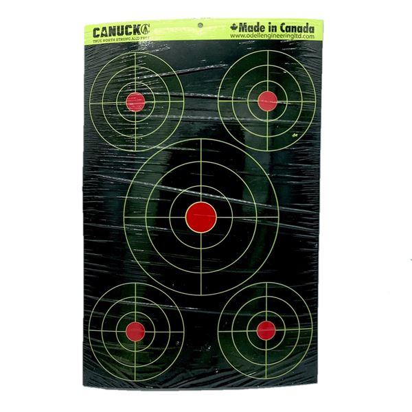 Canuck Splatter Bullseye Targets 25 Pack, New