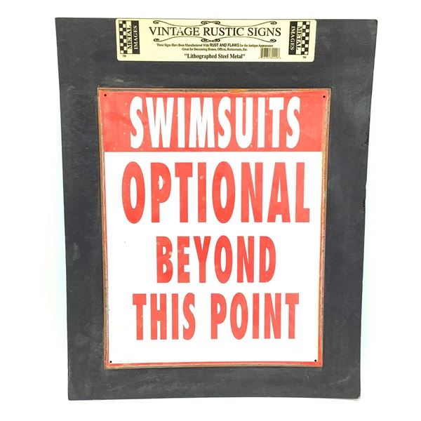 """Swimsuits Optional Sign, 15"""" x 12"""""""