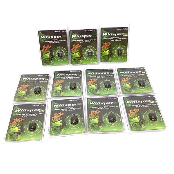 11 Assorted Medium Whisper Vibration Dampening Peep Sight, New