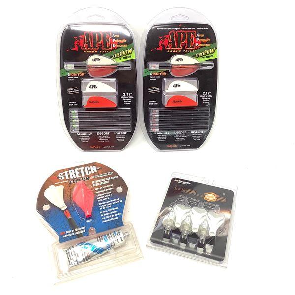 4 Assorted Arrow Vane Kits, New