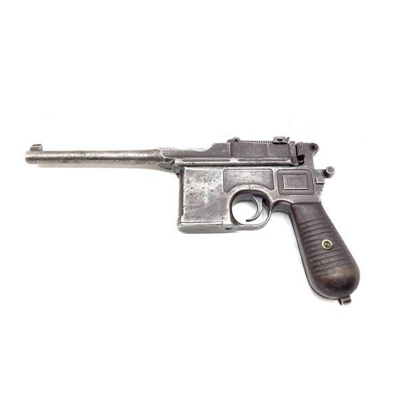 Mauser C-96 Broomhandle Semi Auto Pistol, 7.63x25, Restricted